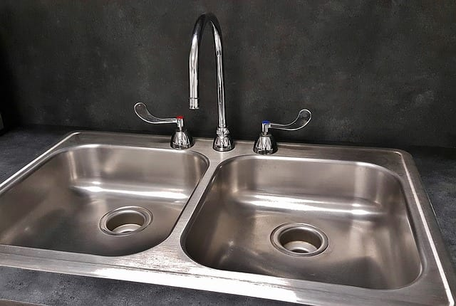A two handled kitchen faucet - Plumbing Repair in Philadelphia